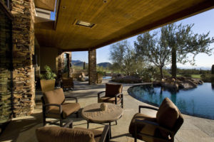 landscaping-with-stones-Pool-Contemporary-with-boulders-ceiling-lighting-covered